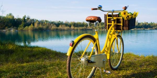 Fahrrad am Bodensee-Radweg