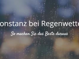 Konstanz bei Regenwetter